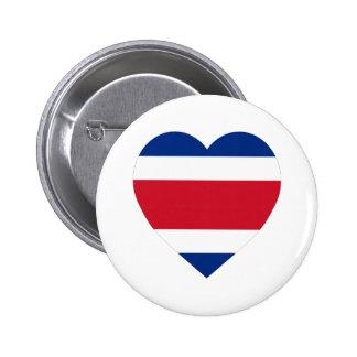 Costa Rica Flag Heart Pin