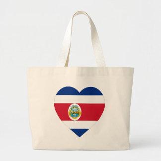 Costa Rica Flag Heart Canvas Bag
