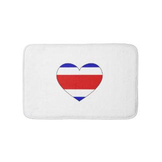 Costa Rica Flag Heart Bath Mats