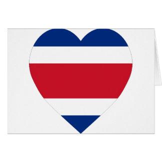 Costa Rica Flag Heart Card