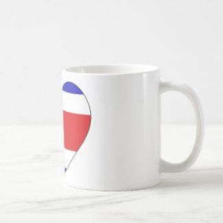 Costa Rica Flag Heart Coffee Mug