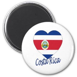 Costa Rica Flag Heart Fridge Magnet