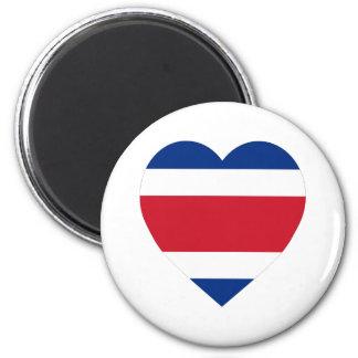 Costa Rica Flag Heart Refrigerator Magnet