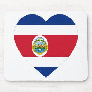 Costa Rica Flag Heart Mouse Mats