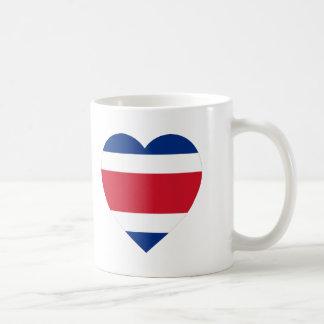 Costa Rica Flag Heart Mug