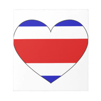 Costa Rica Flag Heart Notepad