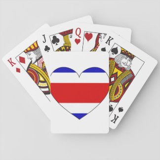 Costa Rica Flag Heart Poker Deck