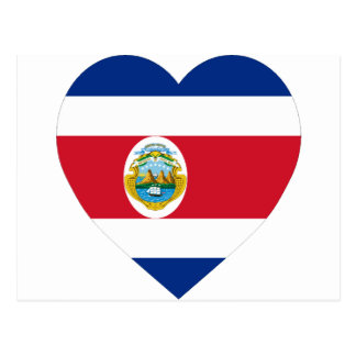 Costa Rica Flag Heart Postcards