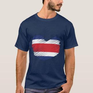 Costa Rica Flag Heart T-Shirt