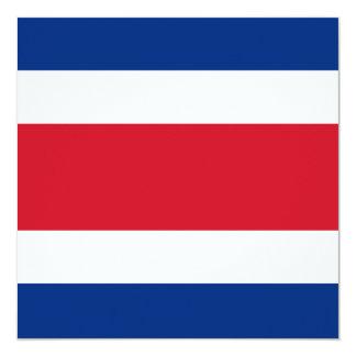 """Costa Rica Flag Invitation 5.25"""" Square Invitation Card"""