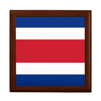 Costa Rica Flag Large Square Gift Box