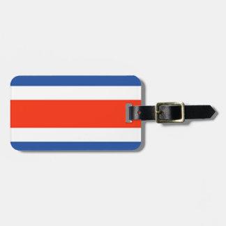 Costa Rica Flag Luggage Tag