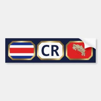 Costa Rica Flag Map Code Bumper Sticker