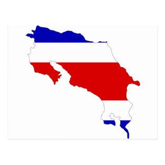 Costa Rica Flag Map Postcard