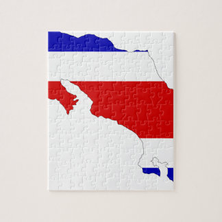 Costa Rica Flag Map Puzzles