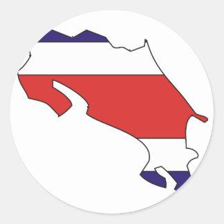 Costa Rica flag map Round Sticker