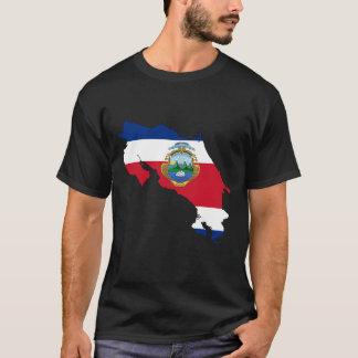Costa Rica Flag Map T-Shirt