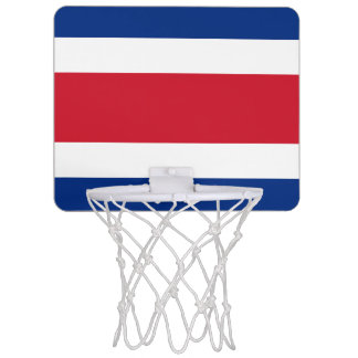 Costa Rica Flag Mini Basketball Hoop