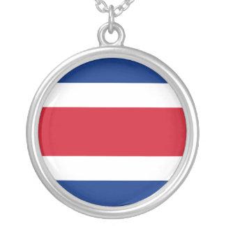 Costa Rica Flag Necklace