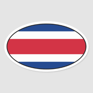 Costa Rica Flag Oval Sticker
