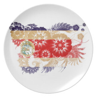Costa Rica Flag Party Plate