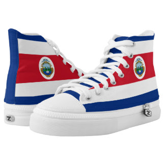 Costa Rica Flag Printed Shoes