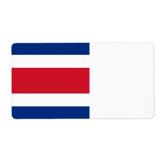 Costa Rica Flag Shipping Label
