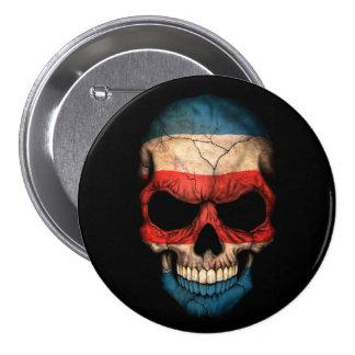 Costa Rica Flag Skull on Black Pin
