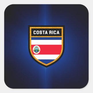 Costa Rica Flag Square Sticker