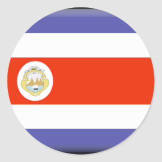 Costa Rica Flag Round Sticker