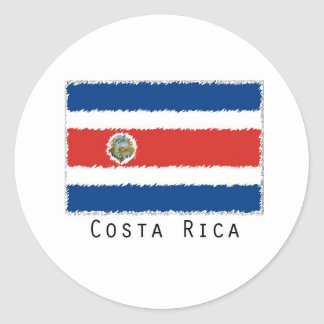 Costa Rica flag stickers- set of 20