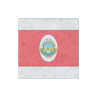 Costa Rica Flag Stone Magnet