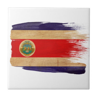 Costa Rica Flag Small Square Tile