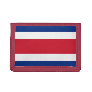 Costa Rica Flag TriFold Nylon Wallet