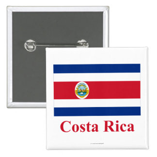 Costa Rica Flag with Name Button