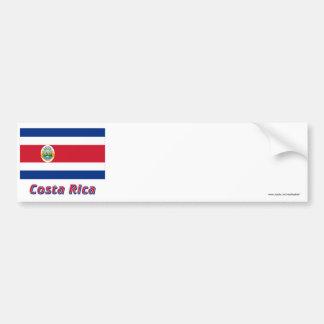 Costa Rica Flag with Name Car Bumper Sticker