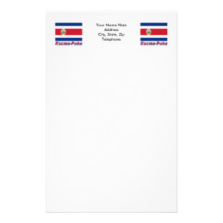 Costa Rica Flag with name in Russian Personalized Stationery