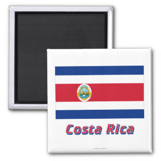 Costa Rica Flag with Name Magnets