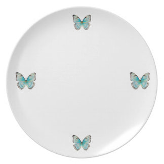 Costa Rica Four Butterfly Melamine Platea Plates