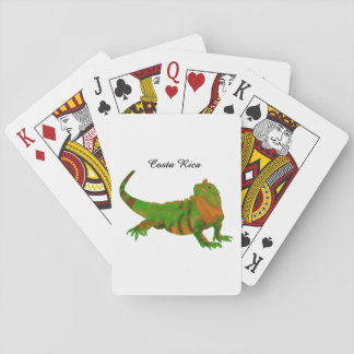 Costa Rica Iguana Playing Cards