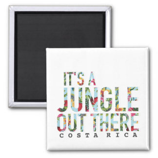 Costa Rica It's A Jungle Out There Souvenir Magnet