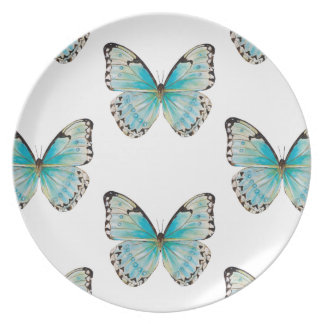 Costa Rica Large Pattern Butterfly Melamine Plate