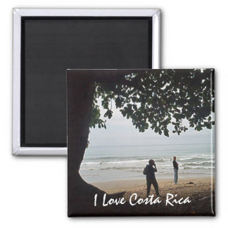 Costa Rica Love - On the Beach Beautiful Cahuita Magnet