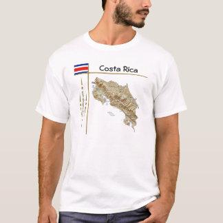 Costa Rica Map + Flag + Title T-Shirt