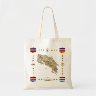Costa Rica Map + Flags Bag