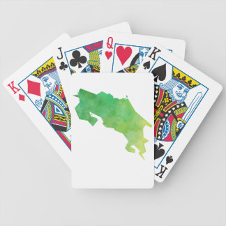Costa Rica Map Poker Deck