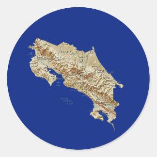 Costa Rica Map Sticker