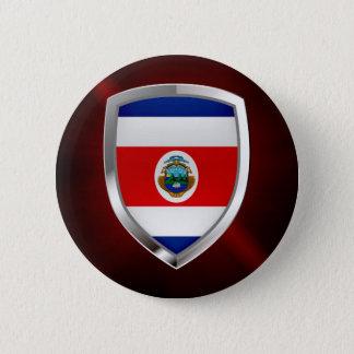 Costa Rica Mettalic Emblem 6 Cm Round Badge