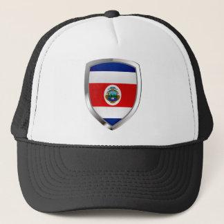 Costa Rica Mettalic Emblem Trucker Hat