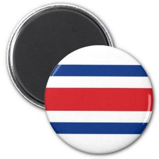 Costa Rica National Flag 6 Cm Round Magnet